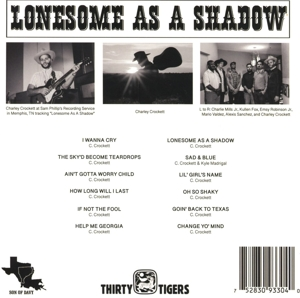 CROCKETT, CHARLEY - LONESOME AS A SHADOW