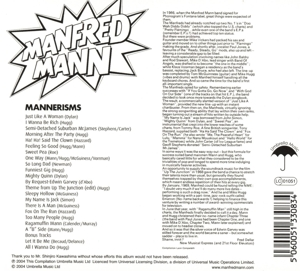 MANFRED MANN - MANNERISMS -DIGI-