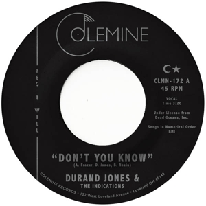 JONES, DURAND & THE INDICATIONS - DON T YOU KNOW