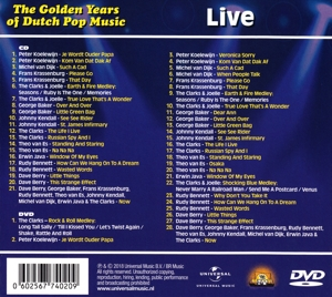 DERKSEN, JOHAN/VARIOUS ARTI - GOLDEN YEARS OF DUTCH POP MUSIC LIV