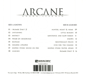 ARCANE - KNOWN/LEARNED