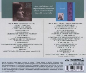 WEST, HEDY - HEDY WEST VOLUME 2