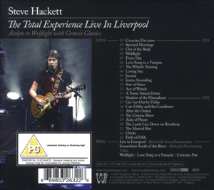 HACKETT, STEVE - TOTAL EXPERIENCE LIVE IN LIVERPOOL