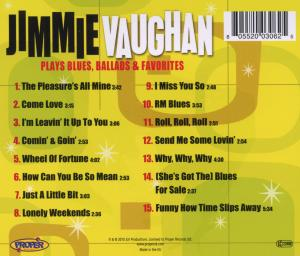 VAUGHAN, JIMMIE - PLAYS BLUES BALLADS & FA
