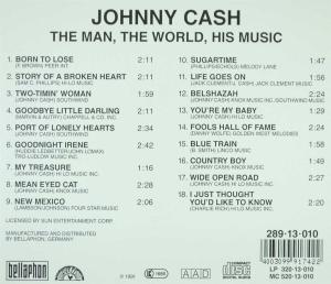 CASH, JOHNNY - MAN, THE WORLD, HIS MUSIC