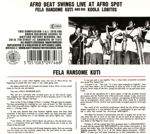 FELA RANSOME KUTI AND HIS KOOLA LOB - HIGHLIFE JAZZ AND AFRO- SOUL (1963-