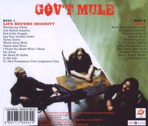 GOV'T MULE - LIFE BEFORE INSANITY/DOSE