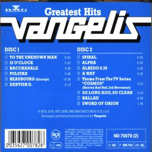 VANGELIS - GREATEST HITS
