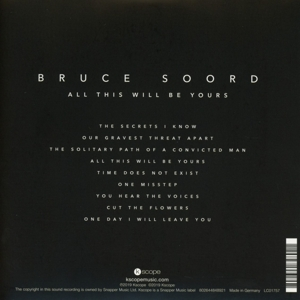 SOORD, BRUCE - ALL THIS WILL BE YOURS -DIGI-
