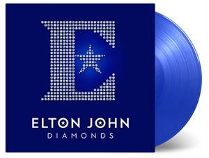JOHN, ELTON - DIAMONDS -BLUE TRANSPARENT